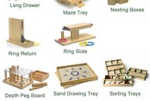 Early school material - wooden toys