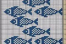 peixes bordados