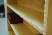 Bookshelf's  DIY with moulding