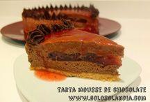 Tarta mousse de chocolate / Tarta mousse de chocolate Fácil receta casera. ¡deliciosa!  http://www.golosolandia.com/2014/10/tarta-mousse-de-chocolate.html