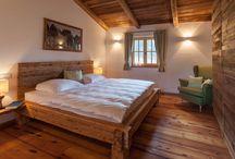 Łóżko ze starego drewna/Altholz Bett
