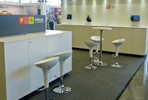 Z3 Projects / This board shows designed and realized exhibition booth projects by Z3 Live Communication AG