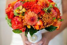 esküvői dekoráció narancssárga