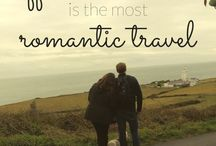 Couple travel romance