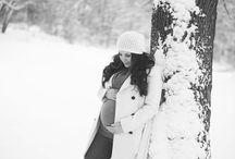 Winter Pregnancy / Pregnancy photoshoot during winter
