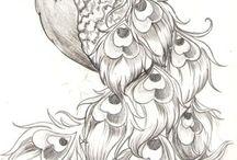 Owl and bird tattoo