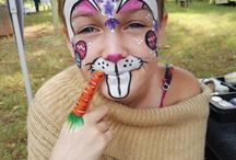 Mazmerized face and body painting