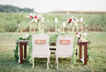 Sweetheart + Head Tables / Introducing for the first time, the fabulous new Mr. + Mrs.......