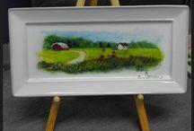 Peinture sur céramique / Très intéressant que de peindre sur la céramique et le résultat est très agréable