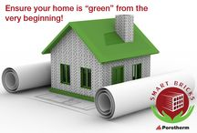 Go #Green with #Porotherm #Smartbricks #Wienerberger #greenbuilding / The world is fast understanding the terrible repercussions of Global warming, Ozone depletion, Co2 emissions...it is time we consciously make an effort to reverse the devastation and create greener footprints...