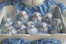 Tiernas ovejitas !!! / souvenirs ovejitas , caja decorada presentación y cartel de bienvenida
