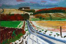 David Hockney landscapes
