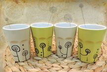 MUGS & CUPS HANDPAINTED by Luciana Torre