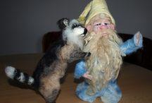 Plstění / výrobky z ovčího rouna - zvířátka, ozdoby, skřítci a další věcičky