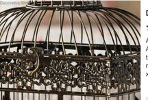 Decorative Birdcages www.tigerinlaurelms.blogspot.com 601-498-5453 / beautiful Home Decor / by Kelly Thejitternews