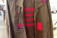 MILITARY SHIRTS by molo mimi / SADF unissued military shirts decorated by ms.chief at molo mimi