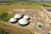 Bau einer Biogsanlage: Thierbach / Fotos während der verschiedenen Bauabschnitte zeigen die Entstehung einer Biogasanlage, in Thierbach.