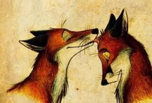Foxy Pair in Illustration / Лисули