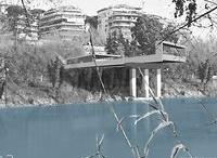 """ARCHITECTURE - PONTE BAILEY - LAD / RECOVERY OF  BAILEY BRIDGE PYLONS- DESIGN PROPOSAL VIA DI TOR DI QUINTO, ROME TERRAZZA mq 420, SPAZI COPERTI mq 130 DESIGN 2011 CONCORSO DI IDEE """"PREMIO VOCAZIONE ROMA"""" – PROGETTO VICITORE"""