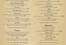 Menu Design / If you own a restaurant, bar, or other service-oriented company creating a consistent visual image through your signage, or menu is important. Handwritten menus or sloppy signage can alienate customers but an attractive menu and matching signage create feelings of trust and confidence in your company.