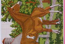 Cross stitch Horses