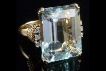 Semi Precious Antique Rings / Other mainstream precious stones are Aquamarine, Amethyst, Topaz, Tourmaline, Peridot, Garnet, Pearl and Opal.