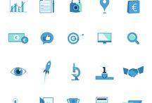 Picto / Les éléments iconographiques (pictos, icons ...) créés par e-Stratege