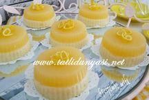 Limonlu mandalinalı sütlüirmik tatlısı