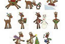 kerst borduur