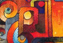 Tapices con colores andinos