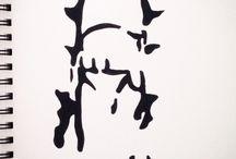 block ink drawings