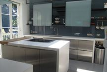 Used Holloways of Ludlow Bespoke Brushed Stainless Steel Designer Kitchen