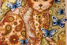 Gatos Livro de colorir