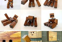 woodden robots