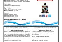Student Programs Fall 2014 / Fall 2014 Informational Flyer