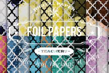 FOIL PAPERS / DIGITAL PAPERS - FOIL PAPERS BY DIGITAL PAPER SHOP