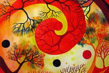 Spirals / All my spirals are watercolour paintings.