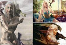 DaenerysTargaryen Art Wallpapers / Art Wallpapers Daenerys Targaryen on http://www.wpaperhd.com/category/serials/game-of-thrones #GameofThrones #Khaleesi  #DaenerysTargaryen
