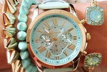 Shiny accessory and watches