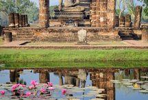 Thailandia / Pace per lo spirito.. Spiagge, mare, templi, elefanti, orchidee, foreste e risaie, palme, case di teak, buddha, mercati galleggianti, monaci e sorrisi..