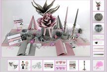 Tischdeko Silberne Hochzeit