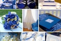 Mariage bleu roi violet