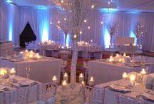 wedding seating and decor