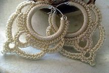 crochet earings and accessories
