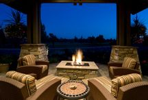 Fire pits / Looking for suggestions on how to incorporate a fire pit/outdoor fireplace (real life not in my wildest dreams). Just if you come across anything interesting?  Thanks! / by Leanne Bucaro