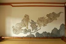 Kote-E  Japanese Plaster Art / Japanese Plastering  鏝絵  左官美術
