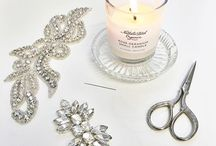Wedding | Debbie Carlisle | Work in progress / A glimpse into the making of our beautiful accessories, each pearl, crystal, leaf, individually placed