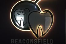 Berwick dentist LED logo / Beaconsfield Dental's cool LED sign. It is controlled by an iPhone app. It can strobe, flash and change colours in many different ways. Berwick dentist.