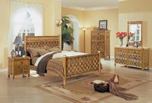 TAHITI WICKER BEDROOM GROUP / This is exactly the bedroom group you would expect to find in your beach resort in Tahiti