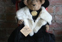 Stearnsy Bears in vintage outfits / Since Sally Stearns first dressed 3 handmade Teddy Bears in wonderful old doll clothes, Stearnsy Bears in unique antique and vintage outfits have been a trademark from the Stearns Family. So when we say one of a kind we mean it. What dressed bears we have for sale are determined by we find to work with. We use antique and vintage adult clothing, children's clothes, doll clothes and sometimes other things.